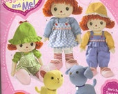 Raggedy Ann and Andy, Cat, Dog, Clothes Pattern, She's So Sweet