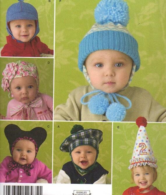 Baby Hats Patterns, 3 Sizes, 6 Styles, 1 Birthday Hat