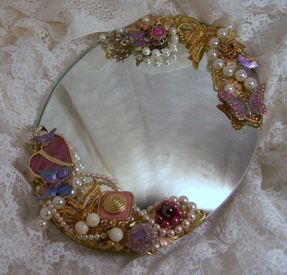 Reserved for shansharee jeweled mirror embellished for Embellished mirror frame