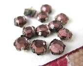 Vintage Rose Montees. Amethyst Jewels Sew On 5mm vgb0291 (12)