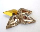 Vintage Swarovski Crystal Rhinestone Ceylon Topaz Pear Teardrop Jewel 13x8mm swa0116 (4)