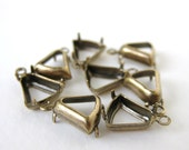 Bell Antiqued Brass Prong Rhinestone Setting Open 1 Ring 8mm set0142 (8)