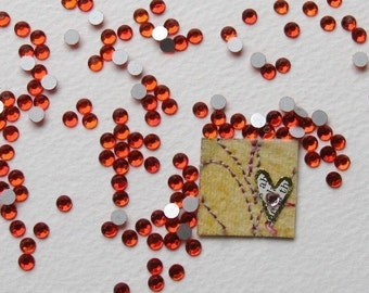 Vintage Rhinestones Light Siam Ruby With Flat, Foiled Backs, 4mm rhm0002 (100)