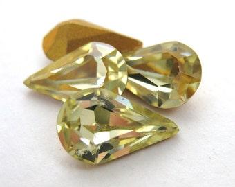 Vintage Swarovski Crystal Rhinestone Jonquil Pear Jewel Teardrop 13x8mm swa0223 (4)