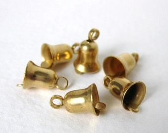Vintage Brass Bell Charm 10mm chm0051 (6)