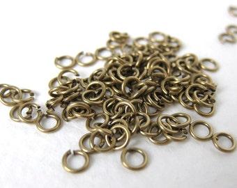 Antiqued Brass Ox Open Jump Ring 4mm 22 gauge jmp0001 (200)