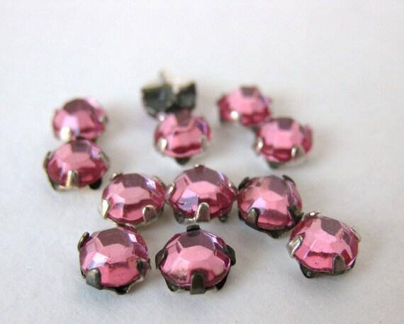 Vintage Rose Montees. Rose Pink Jewels Sew On 5mm vgb0393 (12)