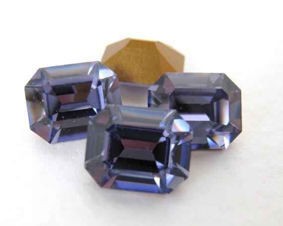 Swarovski Crystal Vintage Rhinestone Tanzanite Octagon Jewel 10x8mm swa0202 (4)