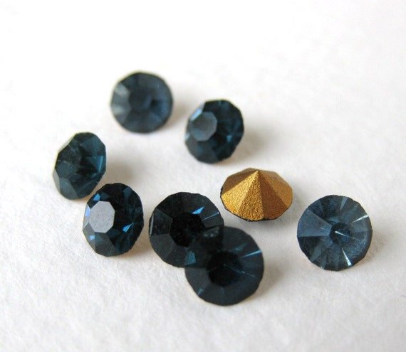 ss20 Vintage Glass Rhinestone Sapphire Blue 20ss rhs0275 (12)