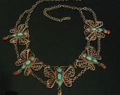 Vintage Butterfly Necklace GORGEOUS