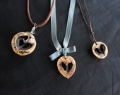 Hickory Heart Pendant Necklace