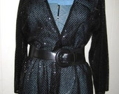 Womens glitter jacket black sequin  and washable. Price cut 20 dollars