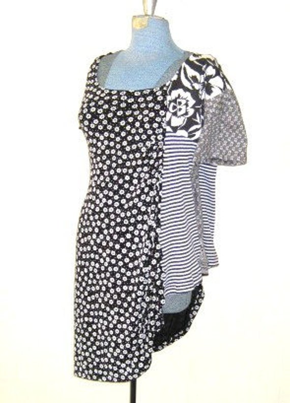 Womens tunics black white print black by popular demand.