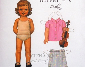 SALE, free shipping, Oliver and S Music Class Blouse and Skirt pattern fits sizes 6 months to 4 years