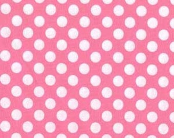 Candy Ta Dot -- Pink with White Dots -- Michael Miller