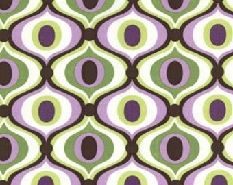 Michael Miller Feeling Groovy fabric -- Orchid
