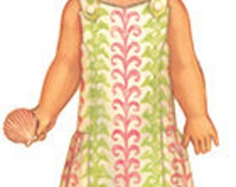 SALE, free shipping Oliver and S Seashore Sundress pattern fits sizes 6 months to 4 years