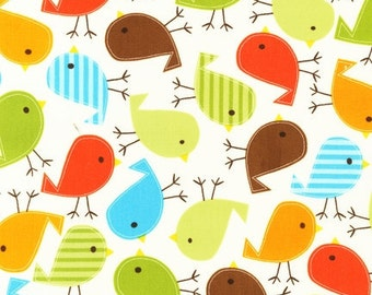 Bright Birds in Bermuda by Ann Kelle from Urban Zoologie for Robert Kaufman Fabric