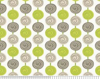 """Green and Gray Beads -- Riley Blake Designs """"Alphabet Soup"""" by Zoe Pearn for My Minds"""