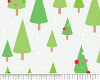 Blake Designs  Christmas Candy by Doodlebug Design white with green trees