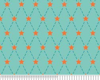 Blue and Orange Argyle -- Riley Blake Designs -- Alphabet Soup -- by Zoe Pearn for My Minds