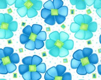 Moda -- Twirl FLower -- Twirling Turquoise