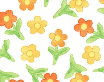 Moda -- Twirl Mini Flower --Twisted Orange