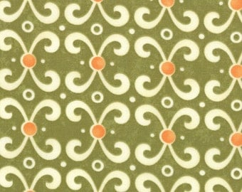 Moda -- Sassy Scrolls in Lime Green