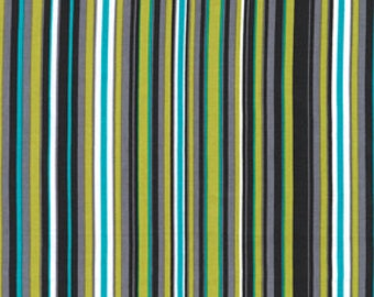 Michael Miller Play Stripe in Lagoon fabric