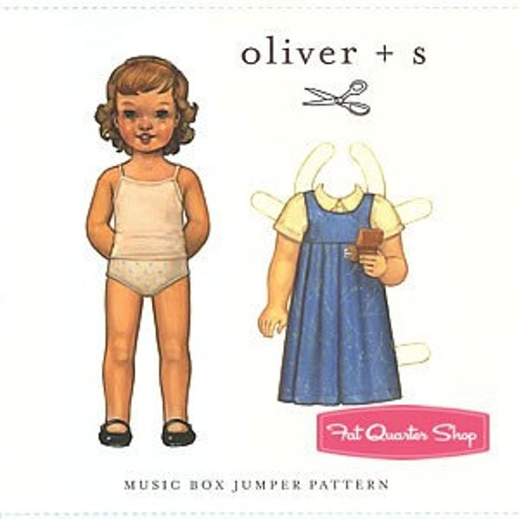 SALE -- Oliver and S Music Box Jumper pattern 5 - 12 years
