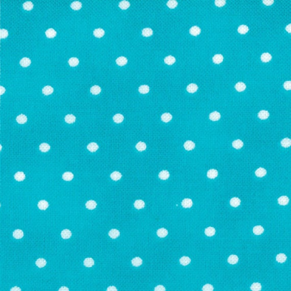 Amelia -- Me and My Sister Floral Dots Aqua and White  by Moda