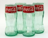 Coca-Cola Recycled Soda Bottle Glass Set (set of 4)