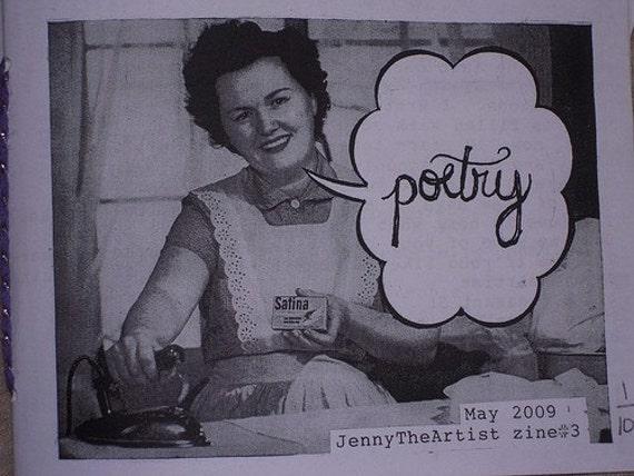 LAST ONE: Jennytheartist zine 3 POETRY