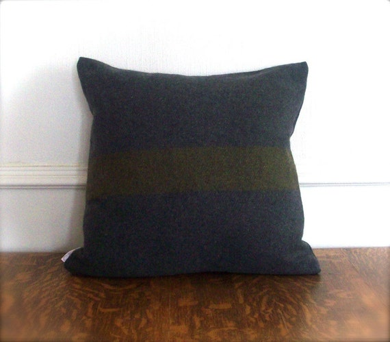 Wool Eco-Chic Pillow Cover - Military Wool - 18 x 18
