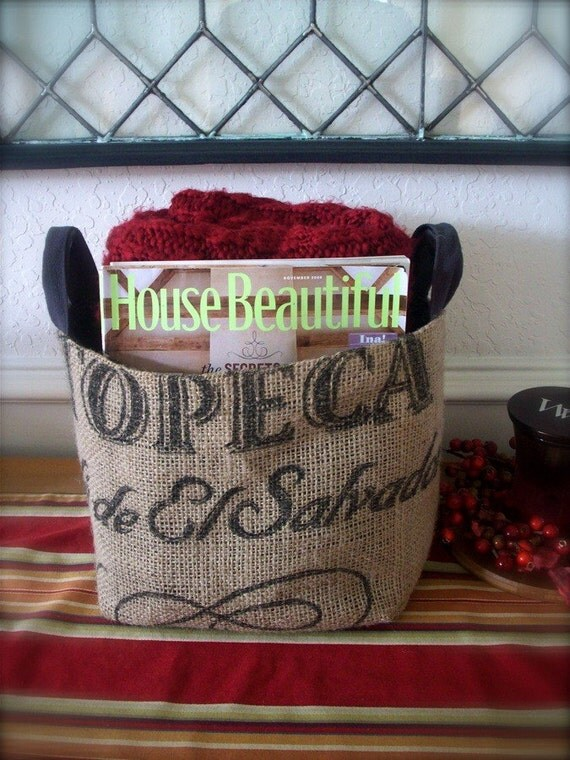 Medium-Large Coffee Sack Basket