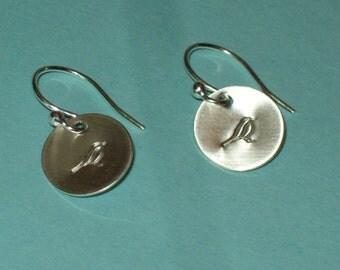 Petit Oiseau - beautiful sterling silver earrings