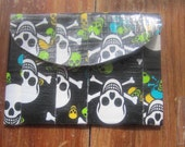 Duct tape Change Wallet In Skull Print With Velcro Closure DuctTape