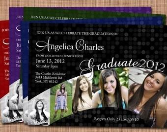 Graduate 2015 Custom Multiple Photo Graduation Invitation
