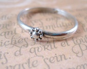 Sterling Silver Stacking Ring Daisy Ring