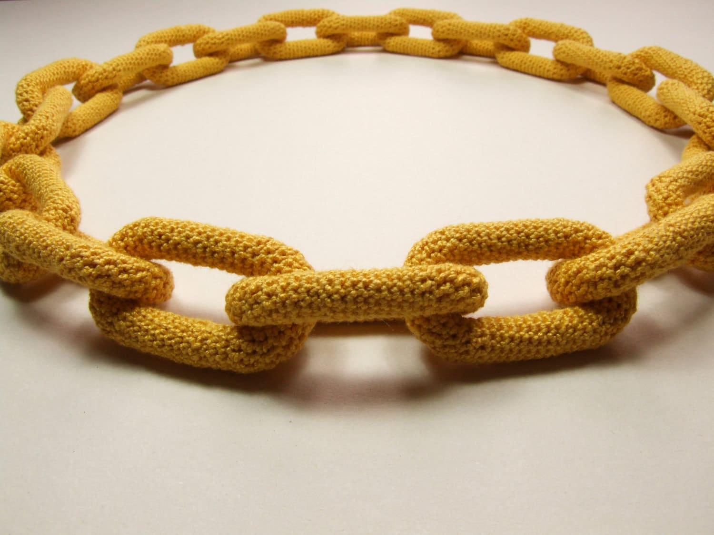 Amigurumi Jewelry Patterns : Chain Crochet Jewellery Pattern Necklace Amigurumi New and