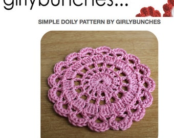 Girlybunches - Simple Crochet Doily PDF Pattern