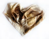 Hand painted silk scarf. A Golden Hyacinth silk shawl Floral silk scarf  beige Abstract scarf Painting on silk by Dimo. Mother's day gift
