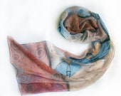 Hand painted silk chiffon scarf Butterfly's and insects MADE TO ORDER