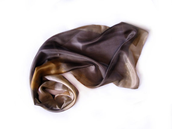 Hand painted silk scarf-Wearable art-PASTEL COLLECTION-Abstract composition-Autumn silk scarf by Dimo-OOAK Reserve for Karolina