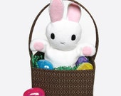 Surprise Bunny Puppet, a pdf sewing pattern