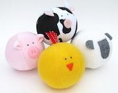 Barnyard Ball - PDF sewing pattern - free shipping