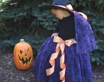 Witch or Princess TuTu, PDF sewing pattern - free shipping