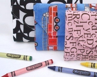 Crayon and Notepad Wallet, immediate download of pdf sewing pattern