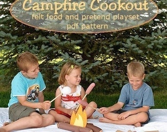 Campfire Cookout- Felt Food Play Set - a pdf sewing pattern