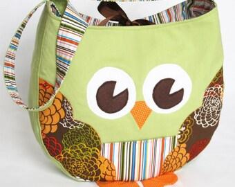 Funky Little Owl Bag, immediate download of pdf sewing pattern